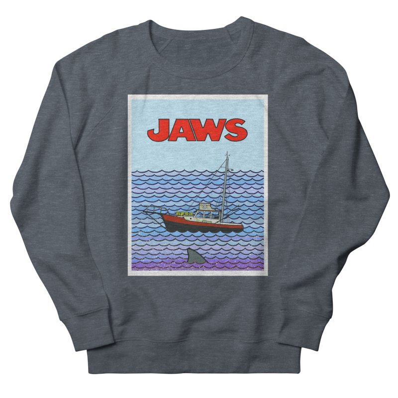 Jaws Women's French Terry Sweatshirt by Steven Compton's Artist Shop