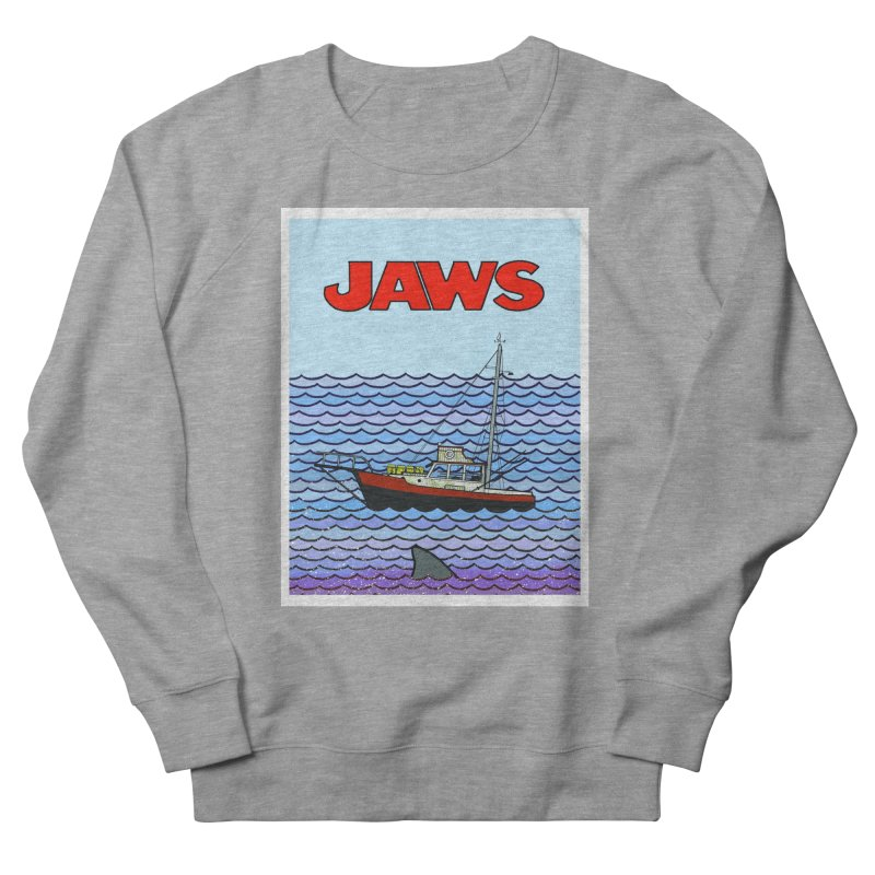 Jaws Women's French Terry Sweatshirt by Steven Compton's Artist Shop