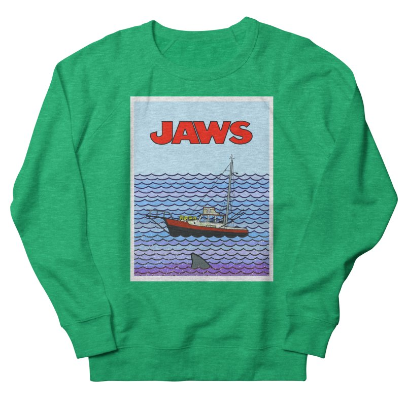Jaws Men's Sweatshirt by Steven Compton's Artist Shop