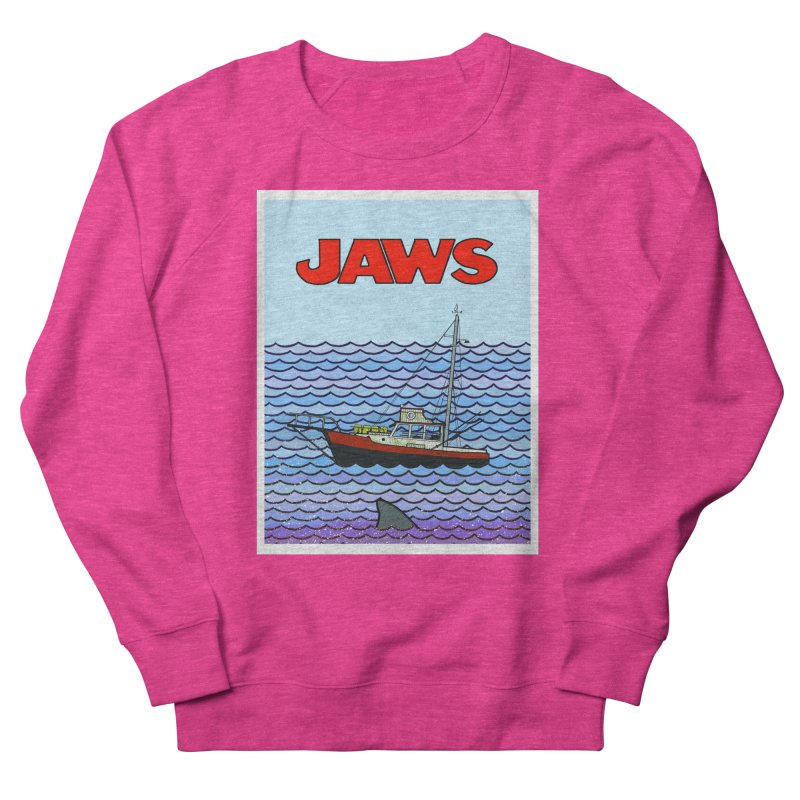 Jaws Men's French Terry Sweatshirt by Steven Compton's Artist Shop
