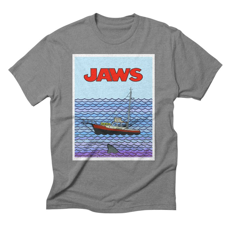 Jaws Men's Triblend T-Shirt by Steven Compton's Artist Shop