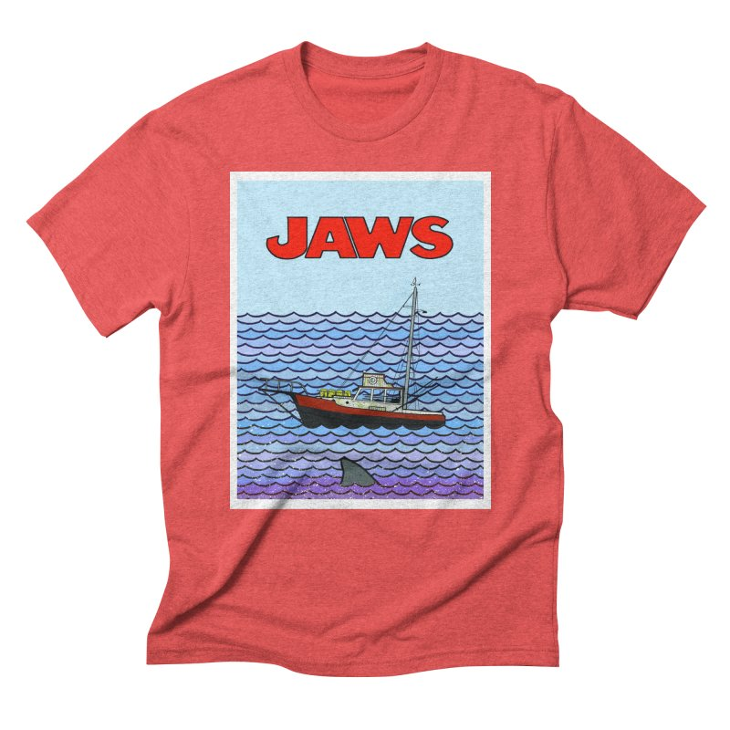 Jaws Men's Triblend T-Shirt by Steven Compton's Artist Shop