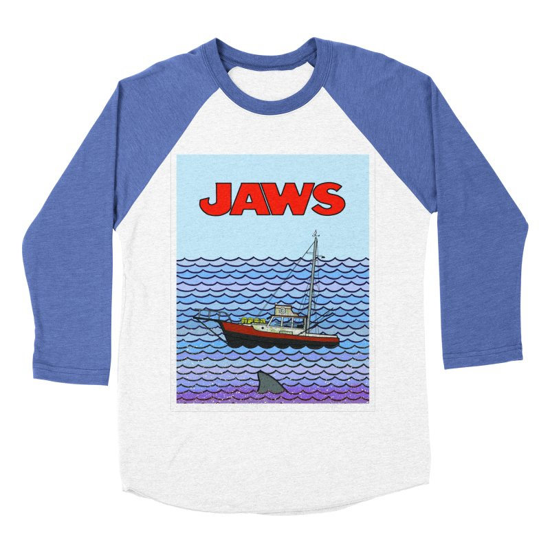 Jaws Women's Baseball Triblend T-Shirt by Steven Compton's Artist Shop