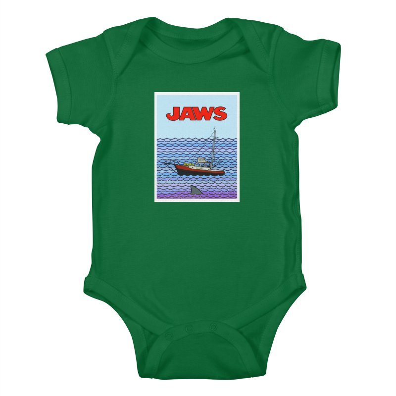 Jaws Kids Baby Bodysuit by Steven Compton's Artist Shop