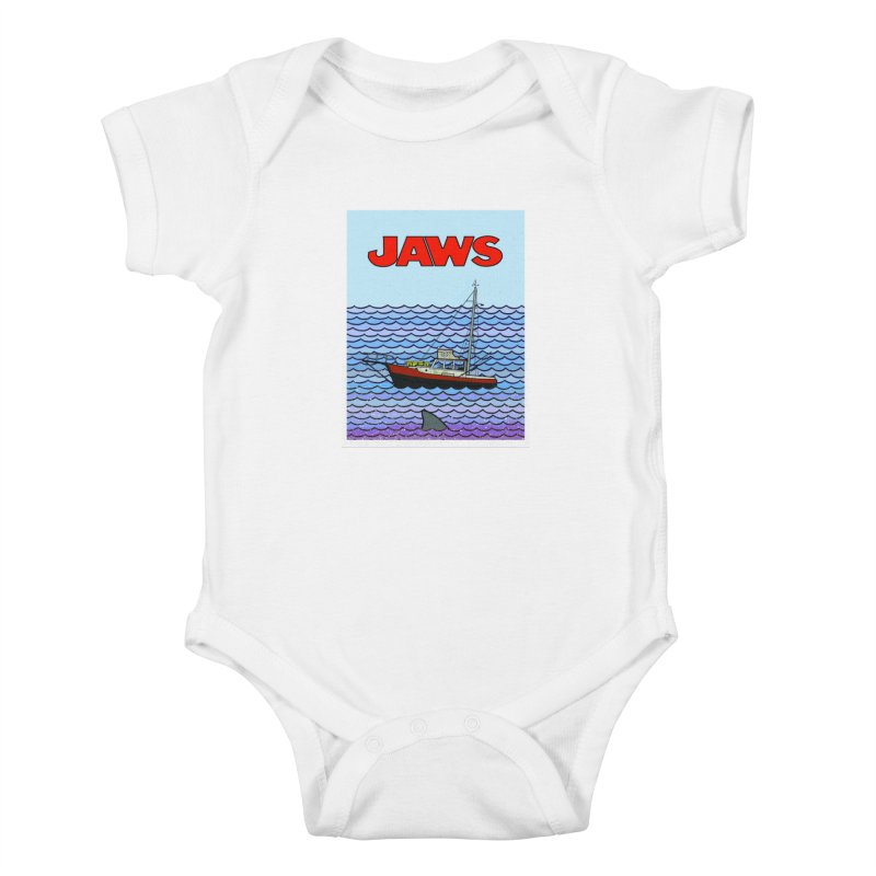 Jaws Kids Baby Bodysuit by Steven Compton's Artist Shop