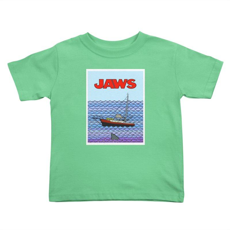 Jaws Kids Toddler T-Shirt by Steven Compton's Artist Shop