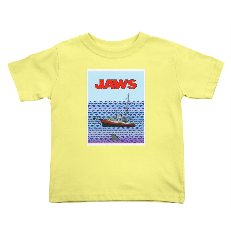 Jaws Kids Toddler T-Shirt by Steven Compton's Artist Shop