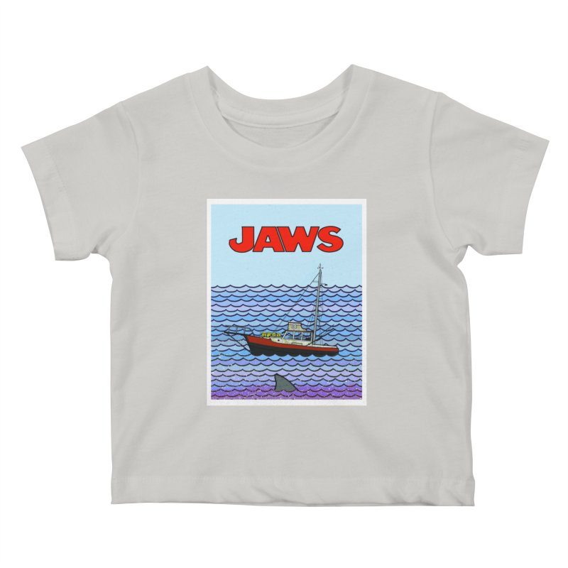 Jaws Kids Baby T-Shirt by Steven Compton's Artist Shop