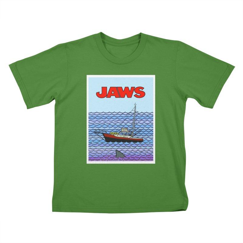 Jaws Kids T-Shirt by Steven Compton's Artist Shop