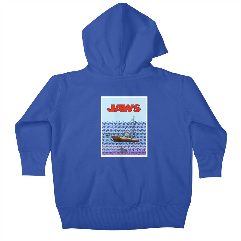 Jaws Kids Baby Zip-Up Hoody by Steven Compton's Artist Shop