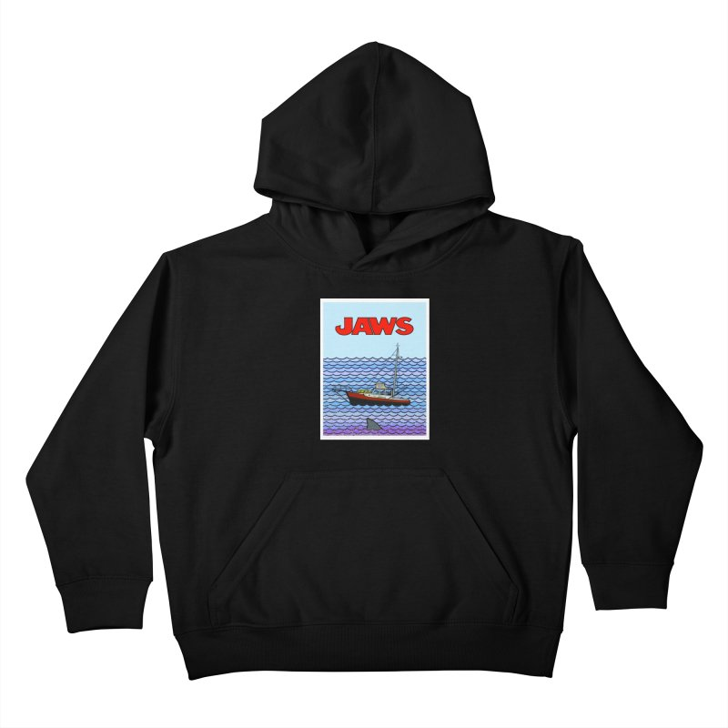 Jaws Kids Pullover Hoody by Steven Compton's Artist Shop