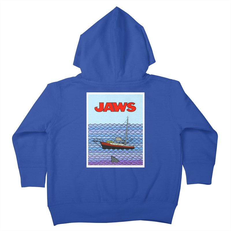 Jaws Kids Toddler Zip-Up Hoody by Steven Compton's Artist Shop