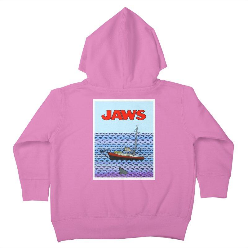 Jaws Kids Toddler Zip-Up Hoody by Steven Compton's Artist Shop