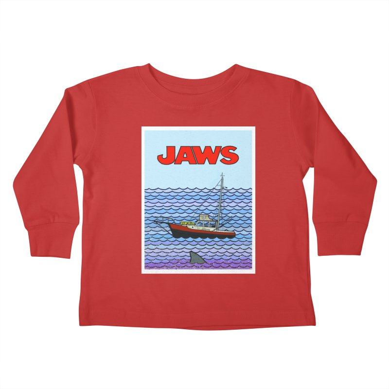 Jaws Kids Toddler Longsleeve T-Shirt by Steven Compton's Artist Shop