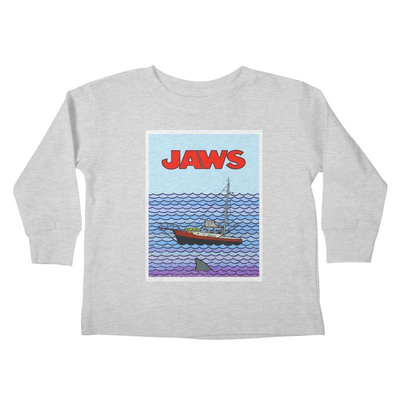 Jaws Kids Toddler Longsleeve T-Shirt by Steven Compton's Artist Shop