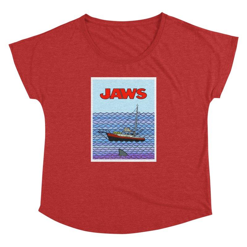 Jaws Women's Dolman Scoop Neck by Steven Compton's Artist Shop