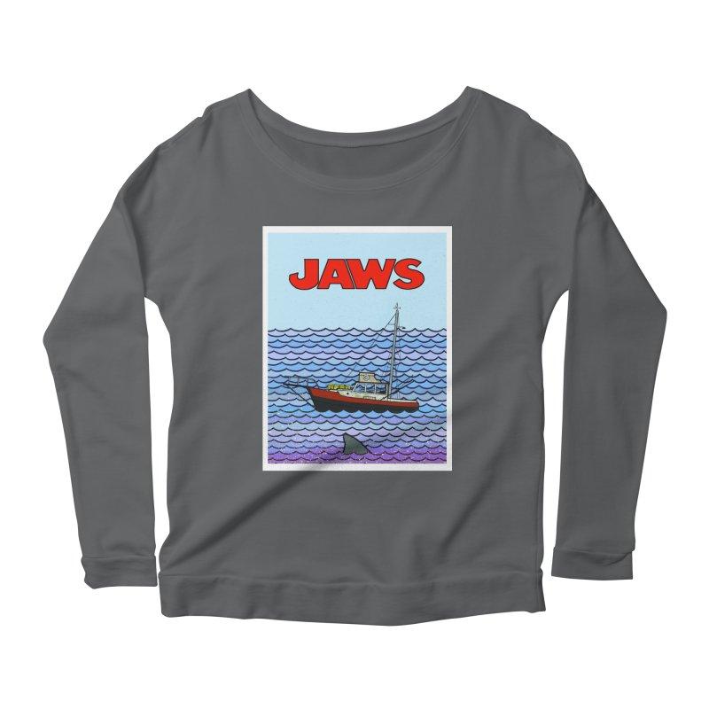 Jaws Women's Longsleeve Scoopneck  by Steven Compton's Artist Shop