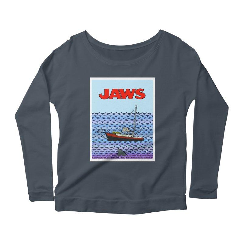 Jaws Women's Scoop Neck Longsleeve T-Shirt by Steven Compton's Artist Shop