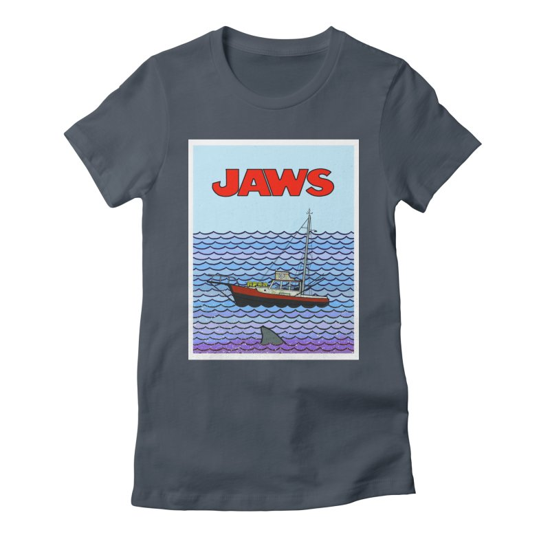 Jaws Women's Fitted T-Shirt by Steven Compton's Artist Shop