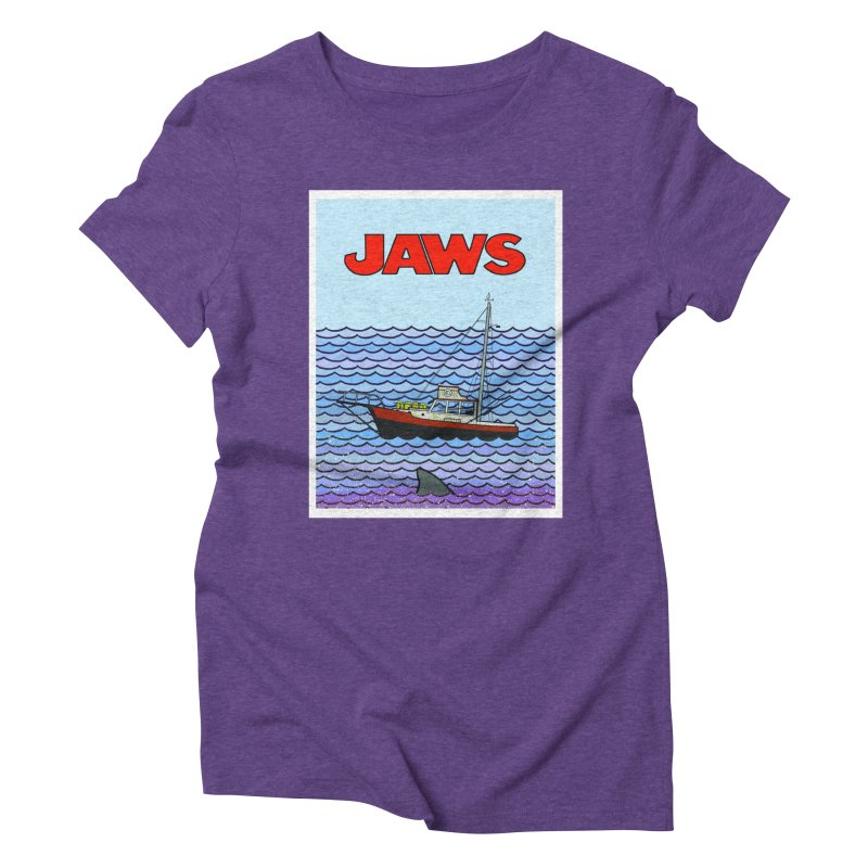 Jaws Women's Triblend T-shirt by Steven Compton's Artist Shop