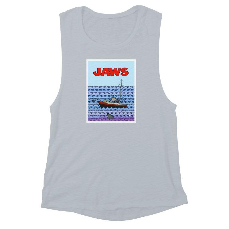 Jaws Women's Muscle Tank by Steven Compton's Artist Shop