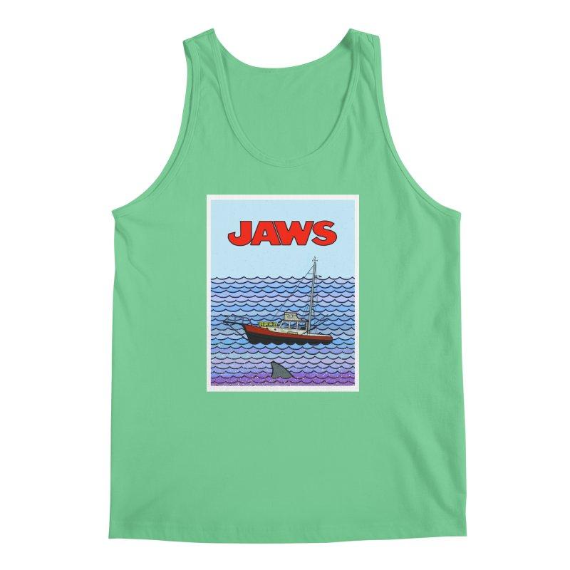Jaws Men's Tank by Steven Compton's Artist Shop
