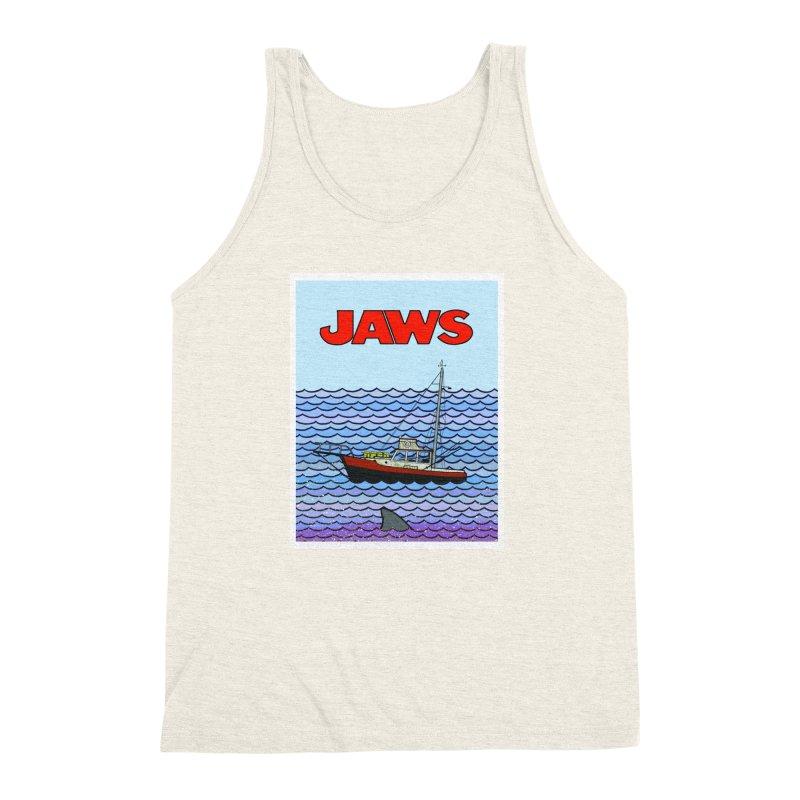 Jaws Men's Triblend Tank by Steven Compton's Artist Shop