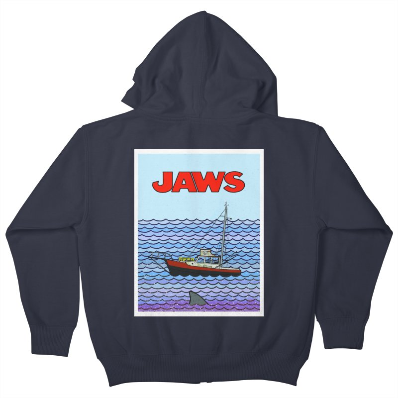 Jaws Kids Zip-Up Hoody by Steven Compton's Artist Shop