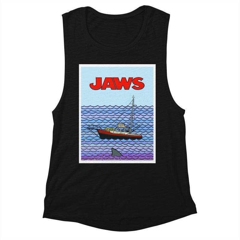Jaws Women's Tank by Steven Compton's Artist Shop