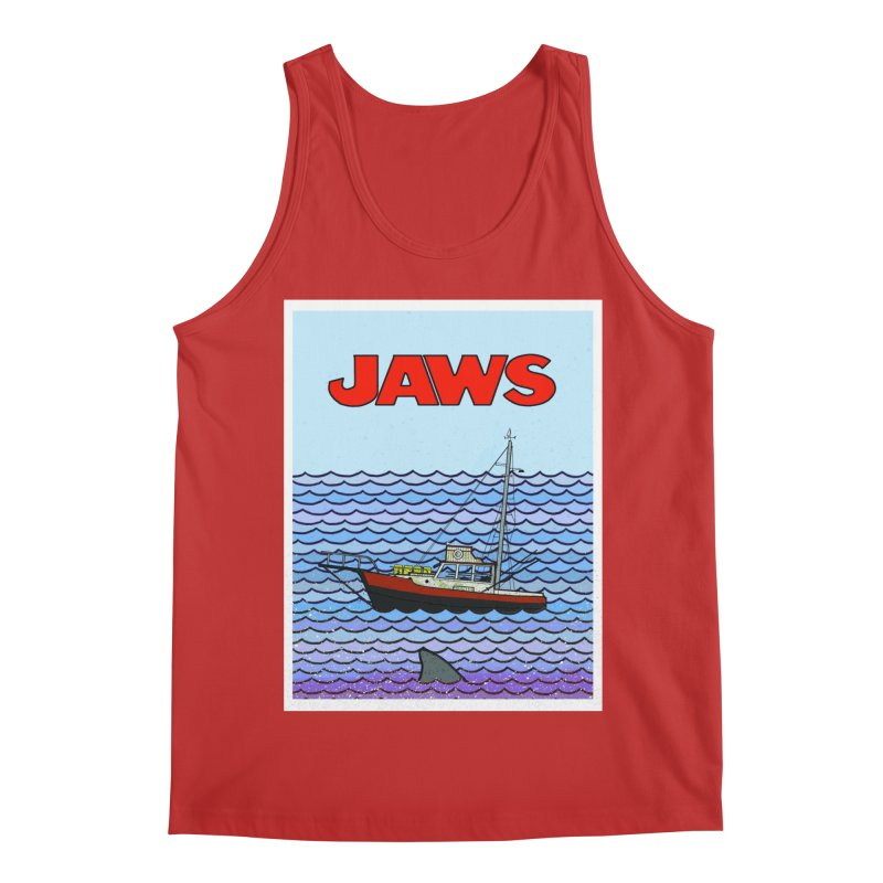 Jaws Men's Regular Tank by Steven Compton's Artist Shop