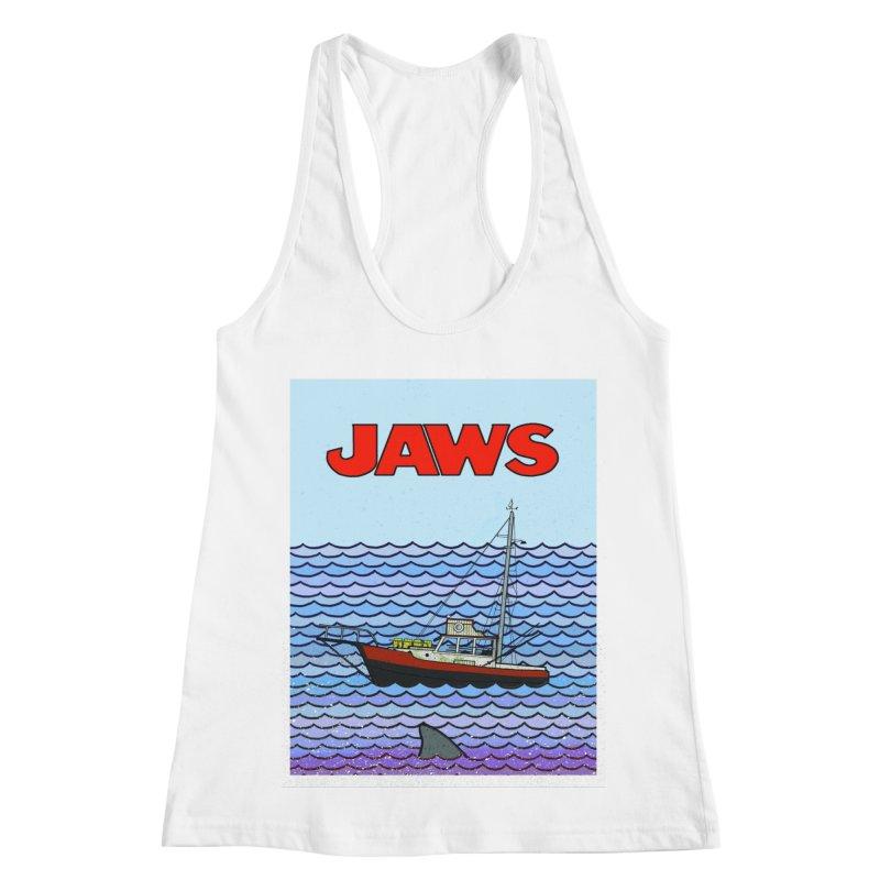 Jaws Women's Racerback Tank by Steven Compton's Artist Shop