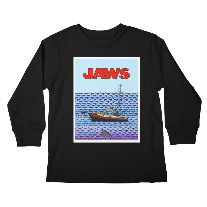 Jaws Kids Longsleeve T-Shirt by Steven Compton's Artist Shop