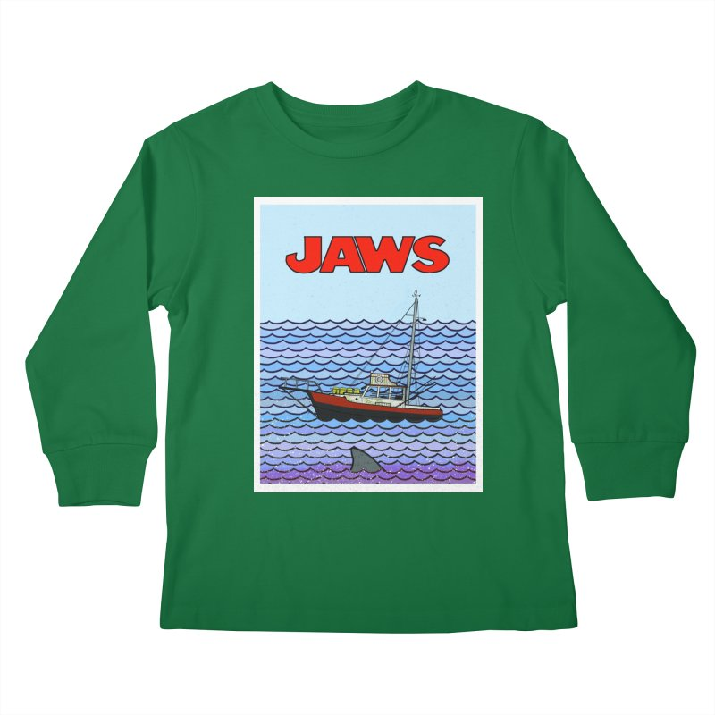 Jaws Kids Longsleeve T-Shirt by Steven Compton's Artist Shop