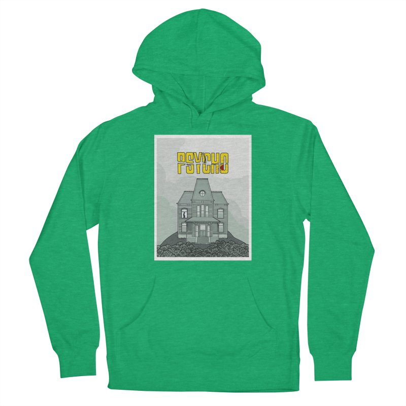Psycho Men's French Terry Pullover Hoody by Steven Compton's Artist Shop