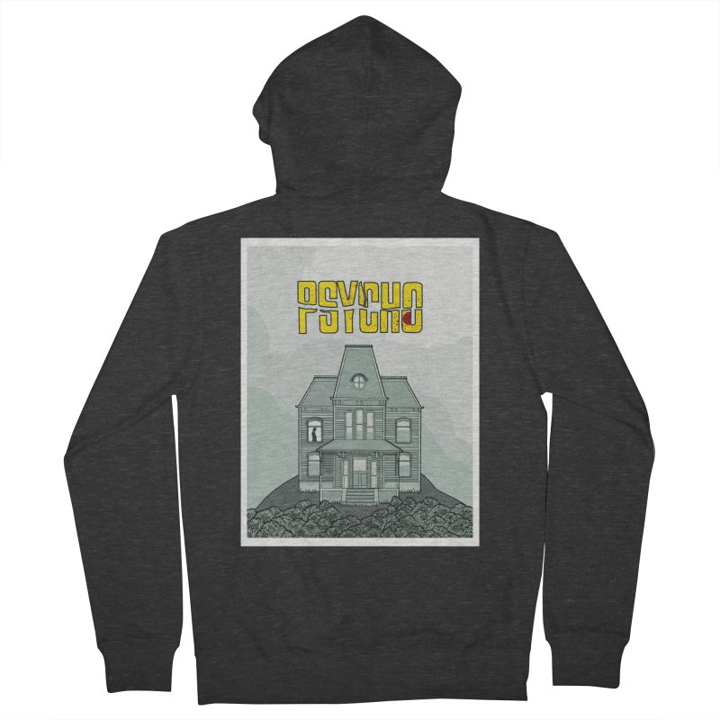 Psycho Women's French Terry Zip-Up Hoody by Steven Compton's Artist Shop