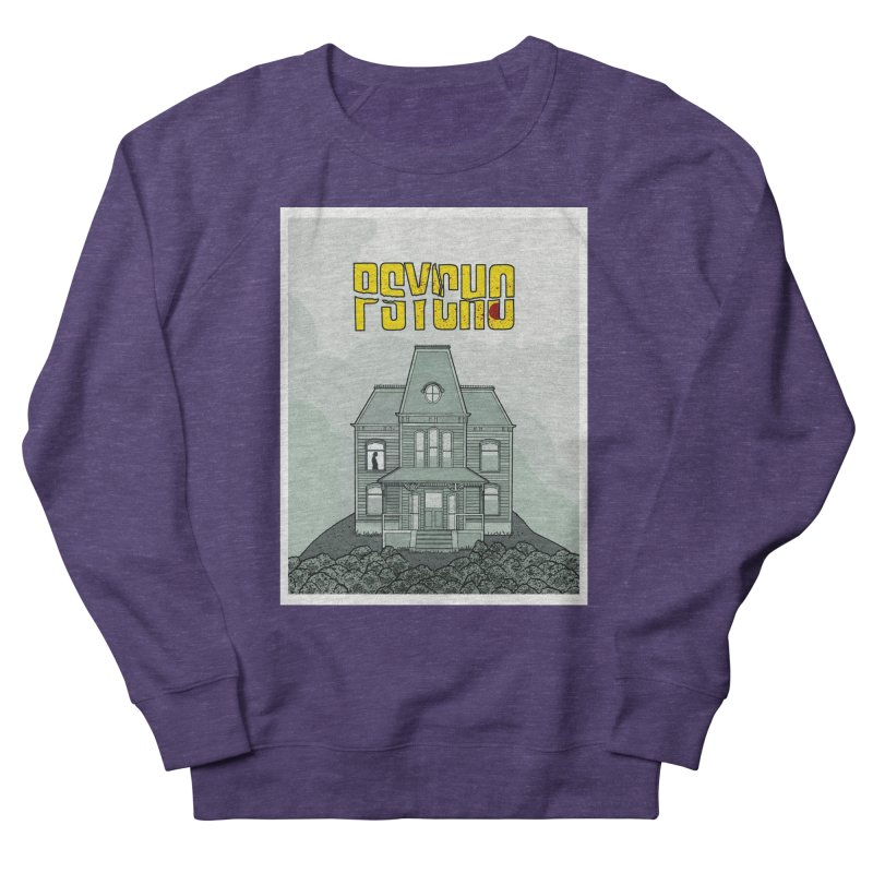 Psycho Women's French Terry Sweatshirt by Steven Compton's Artist Shop