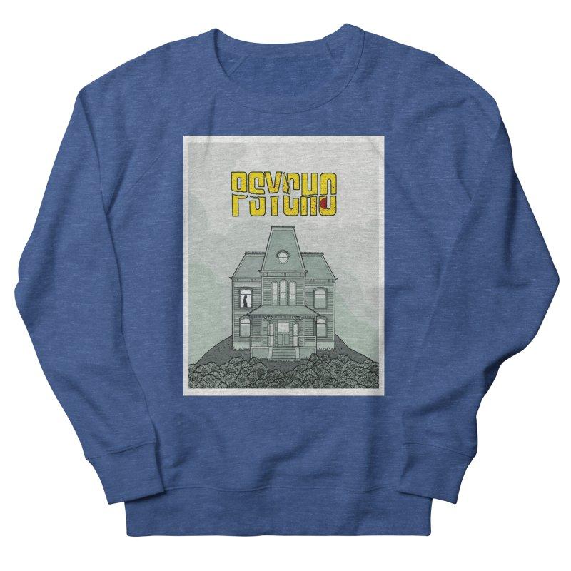Psycho Men's French Terry Sweatshirt by Steven Compton's Artist Shop