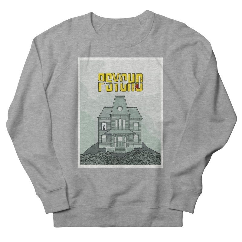 Psycho Men's French Terry Sweatshirt by Steven Compton's Artist Shop