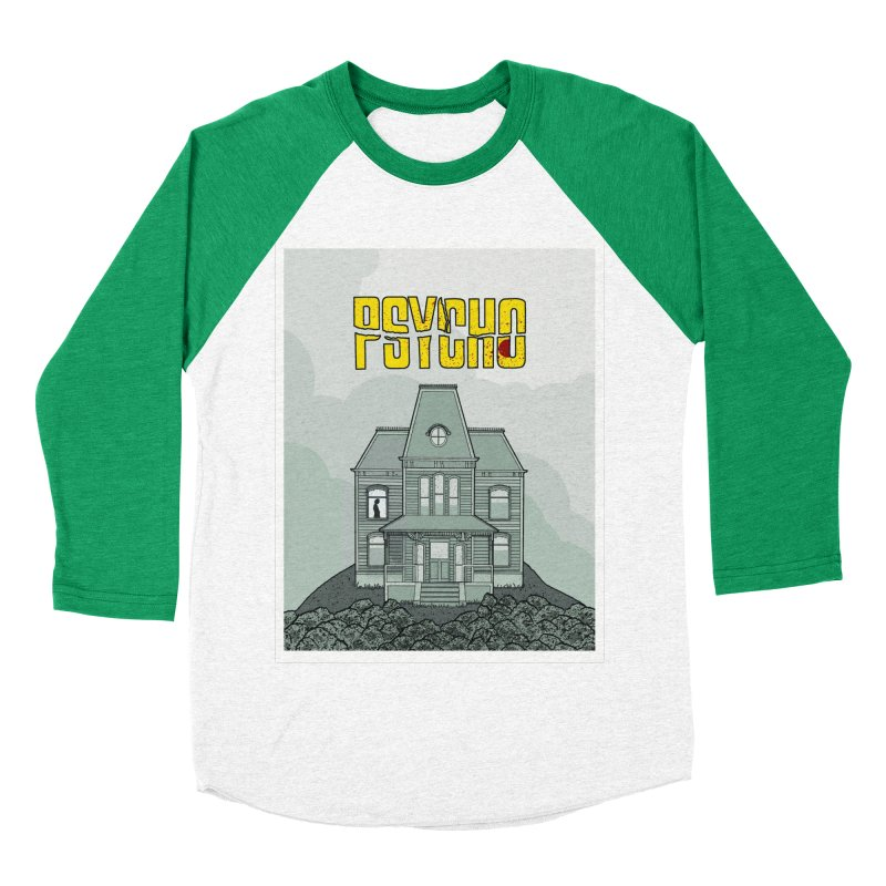 Psycho Women's Baseball Triblend Longsleeve T-Shirt by Steven Compton's Artist Shop