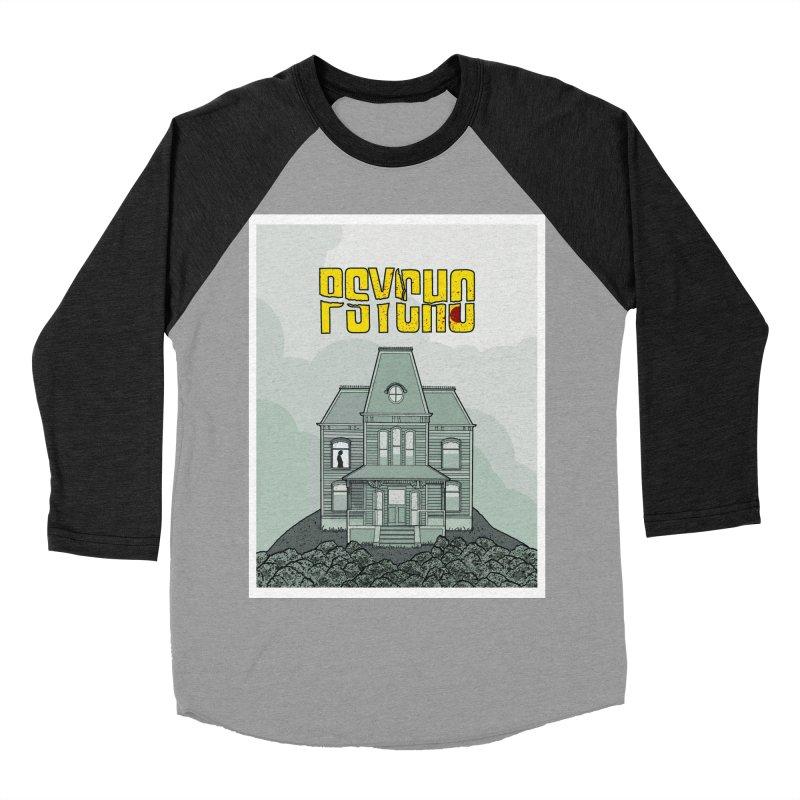 Psycho Women's Baseball Triblend T-Shirt by Steven Compton's Artist Shop