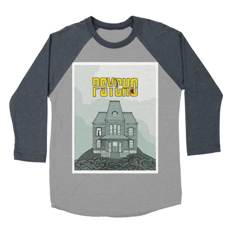 Psycho Men's Baseball Triblend Longsleeve T-Shirt by Steven Compton's Artist Shop