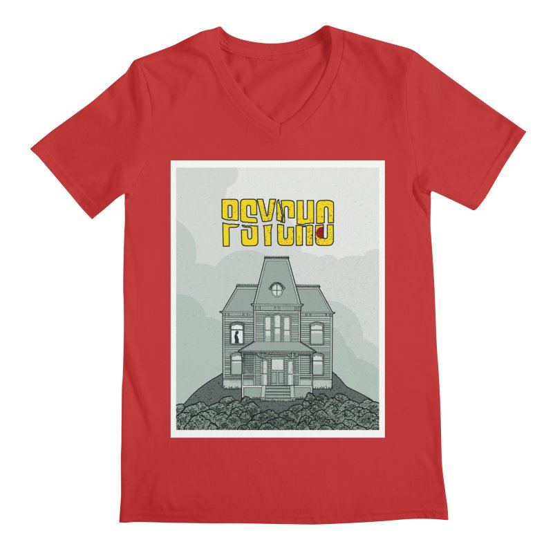 Psycho Men's Regular V-Neck by Steven Compton's Artist Shop
