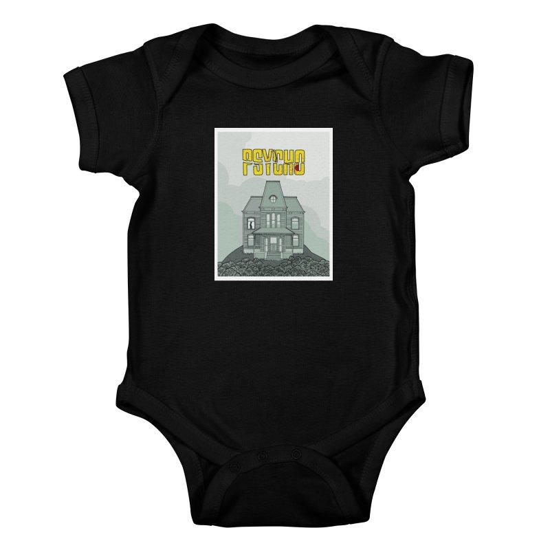 Psycho Kids Baby Bodysuit by Steven Compton's Artist Shop