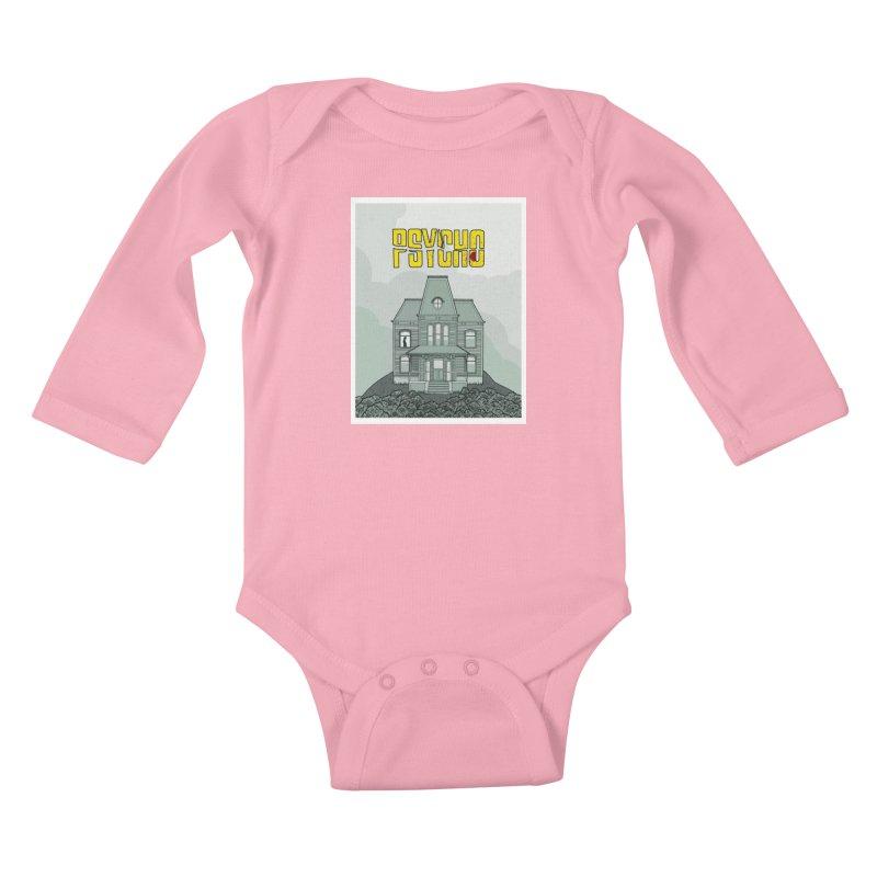 Psycho Kids Baby Longsleeve Bodysuit by Steven Compton's Artist Shop