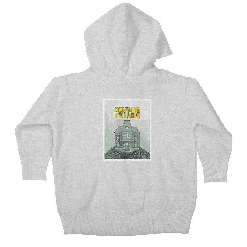 Psycho Kids Baby Zip-Up Hoody by Steven Compton's Artist Shop