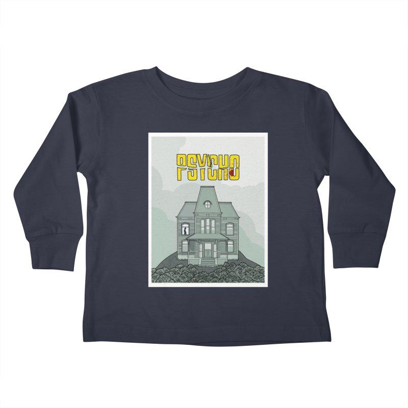 Psycho Kids Toddler Longsleeve T-Shirt by Steven Compton's Artist Shop