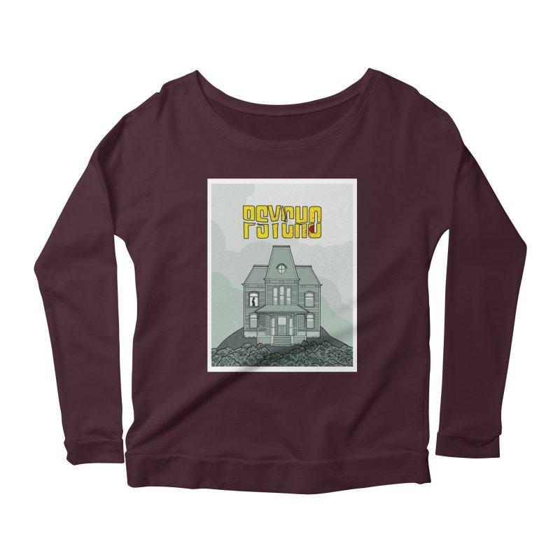 Psycho Women's Scoop Neck Longsleeve T-Shirt by Steven Compton's Artist Shop