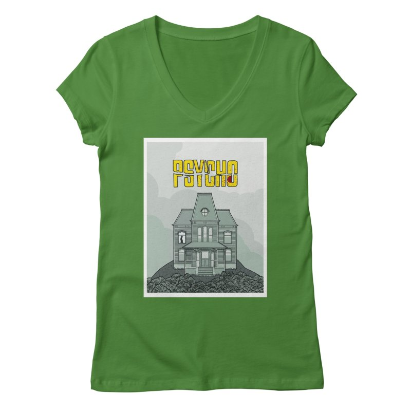 Psycho Women's Regular V-Neck by Steven Compton's Artist Shop