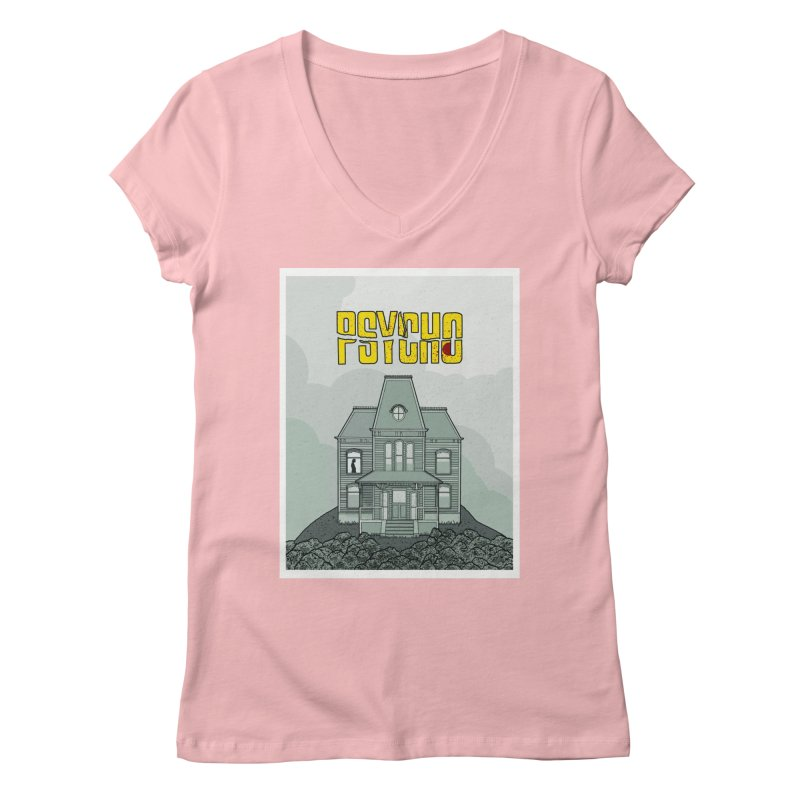 Psycho Women's V-Neck by Steven Compton's Artist Shop