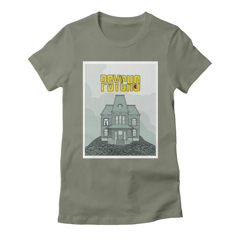 Psycho Women's Fitted T-Shirt by Steven Compton's Artist Shop